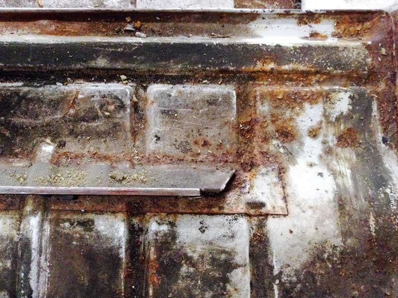 under the cab seat area had some surface rust that needed attention
