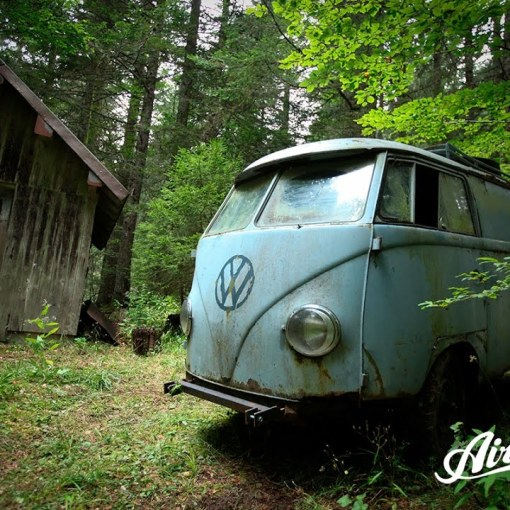 1955 VW Panelvan rescued from the depths of a forest
