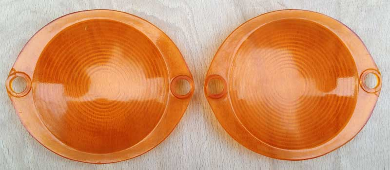 orange fisheye indicator lenses 64-67