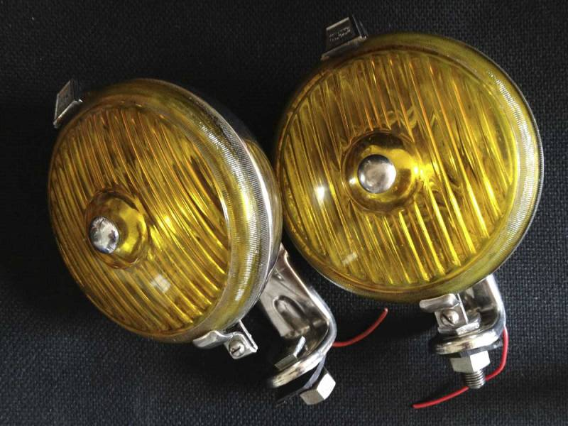 vintage original Wipac front fog lights