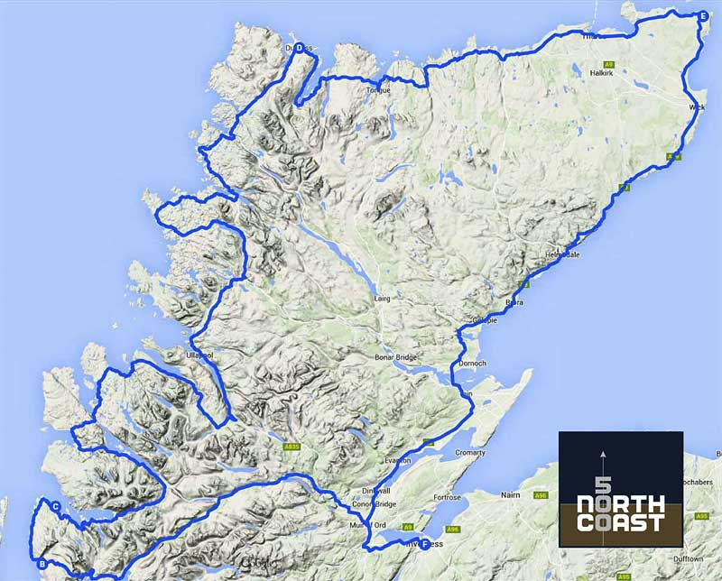 the North Coast 500 route of the highlands of northern Scotland