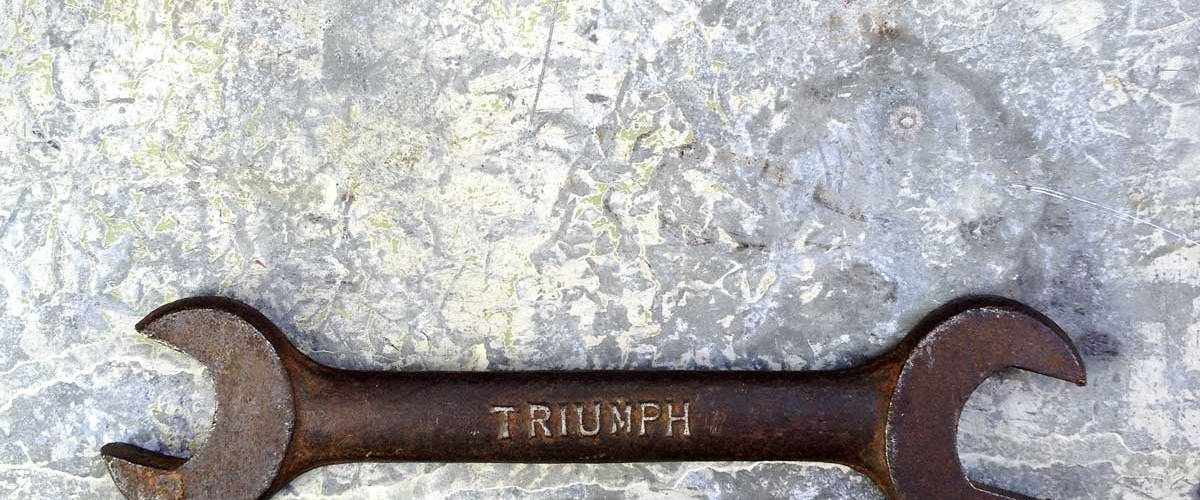 new life for an original vintage Triumph spanner