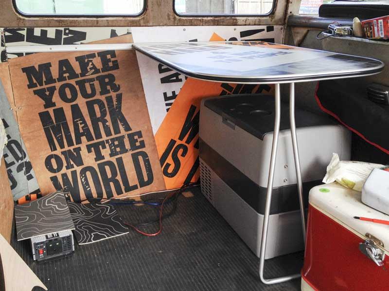 table install in the forward bulkhead position