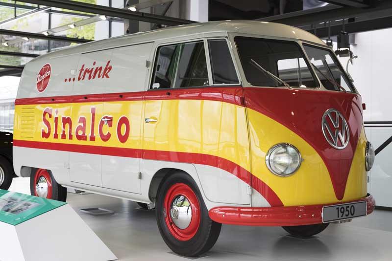 sign written 1950 VW Barndoor bus