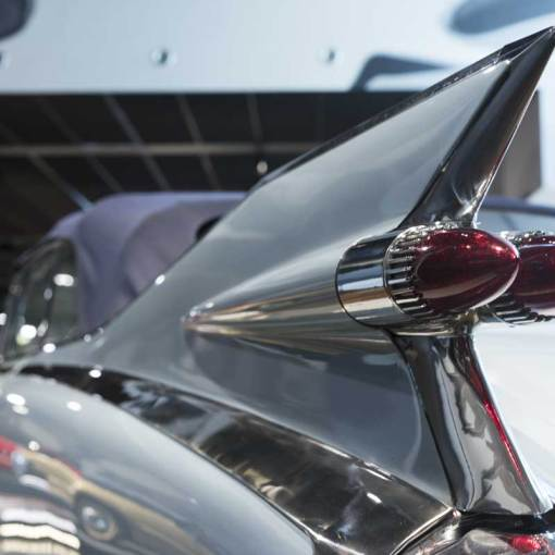 iconic tail fin from the Cadillac Eldorado Biarritz convertible V8