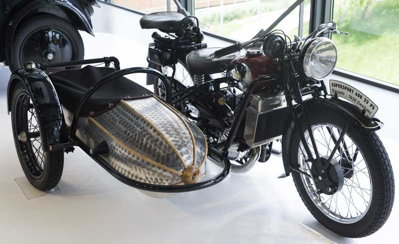 DKW supersport 600 with cool sidecar