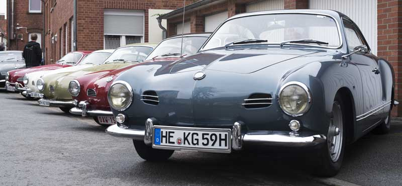 kool Karmann Ghia line up