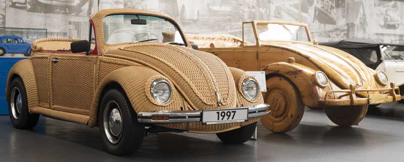 great craftsmanship went into making these basket and wooden Beetles