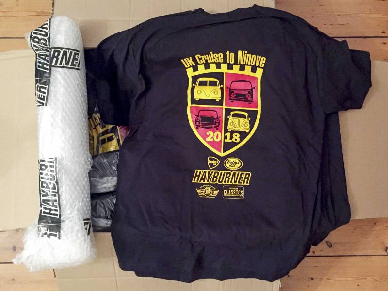unpacking the limited edition Cruise to Ninove tshirts