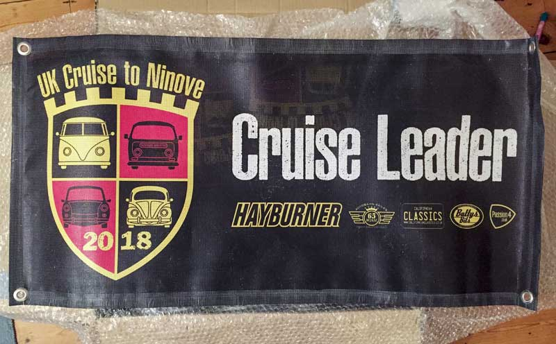 the Cruise to Ninove 'cruise leader' banner
