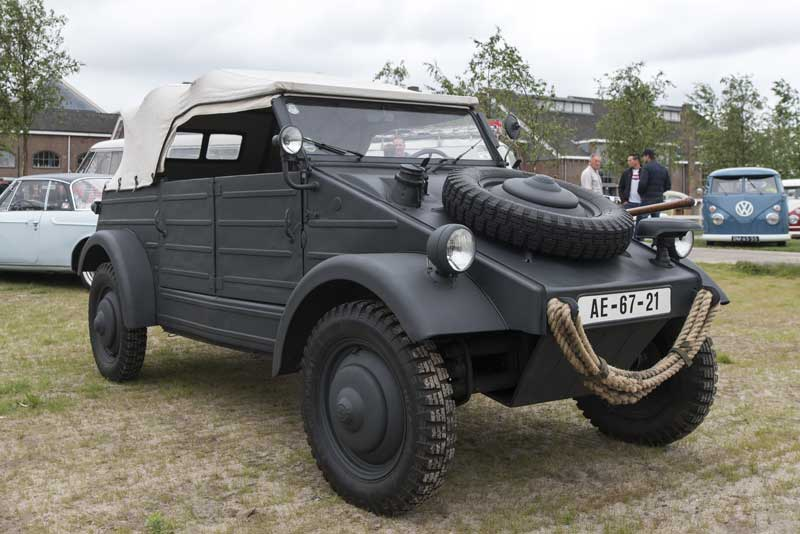 Tough looking matt black Kübelwagen