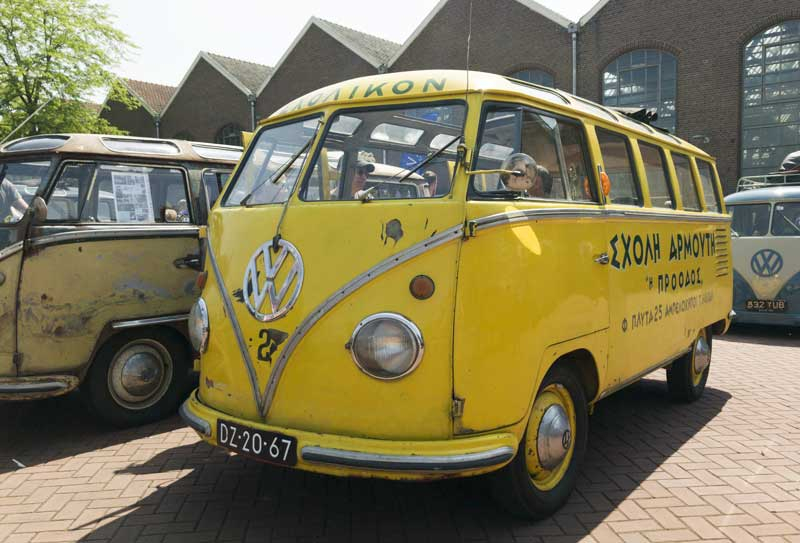 I'd be back to school in this über cool Greek Barndoor Samba school bus