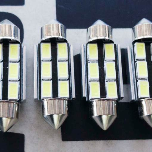 36mm Festoon C5W LED Bulbs – 6000K White Light 6-SMD 5730 Chipsets