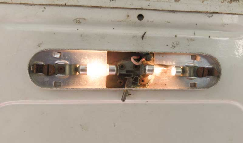 original incandescent festoon bulbs give a low/dim yellowish light