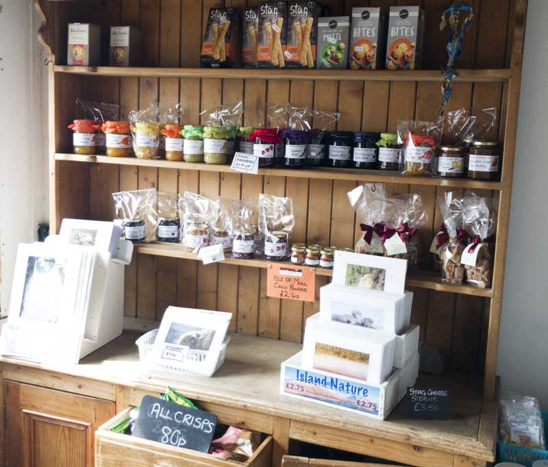 the Old Post Office of Mull has a great selection of food goodies