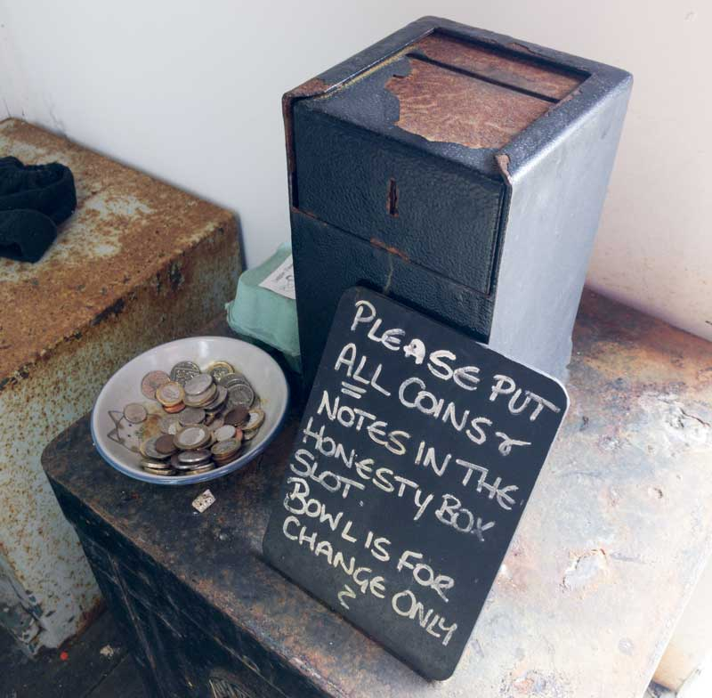 the Old Post Office of Mull runs an honesty box system for payments