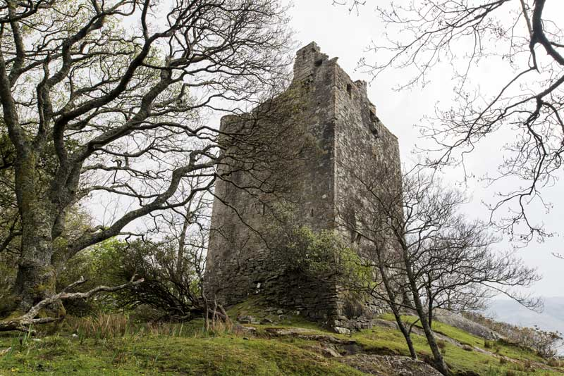 the remains of Moy Castle at Lochbuie