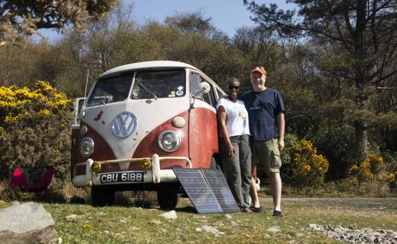 making the most of the sunshine on Lochbuie