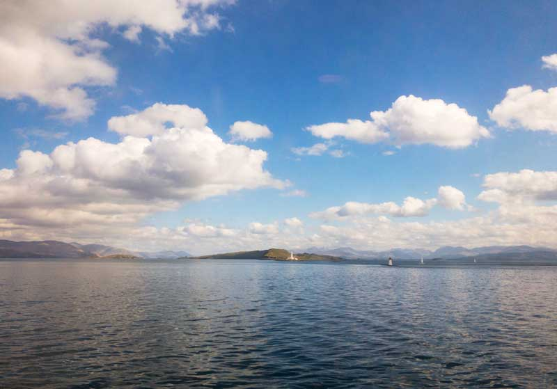 the ferry crossing back from Mull is an equally beautiful part of the road trip