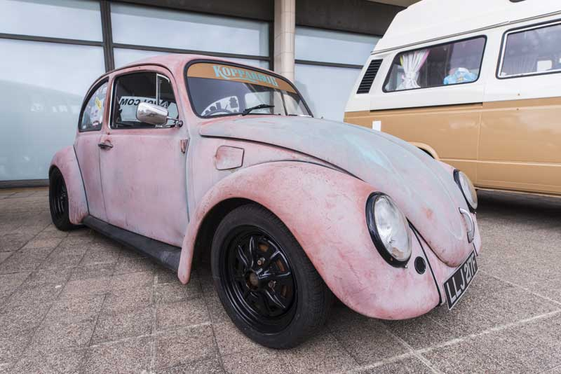 loved this funky paint finish on 'Kopparbug' – tough looking Beetle