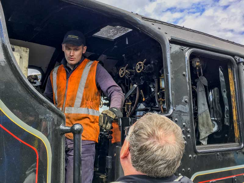 plenty of train enthusiasts at Fort William to make the most of the opportunity to travel the route