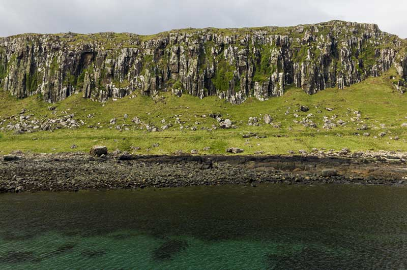 dramatic colours and textures of the Staffin landscape