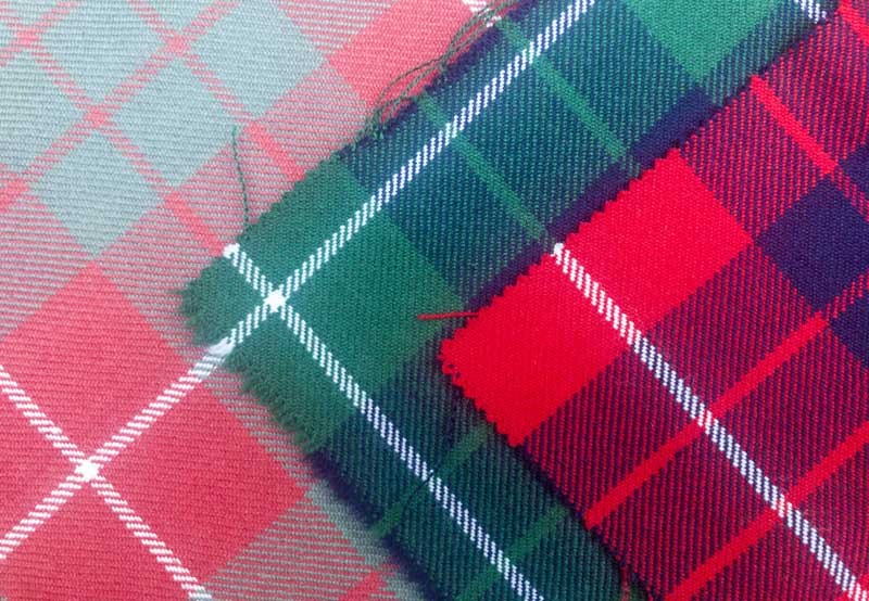 a selection of Hamilton tartans from Lochcarron Weavers