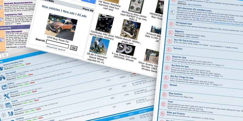 air-cooled forums can be an invaluable community resource for parts, technical expertise and social sharing