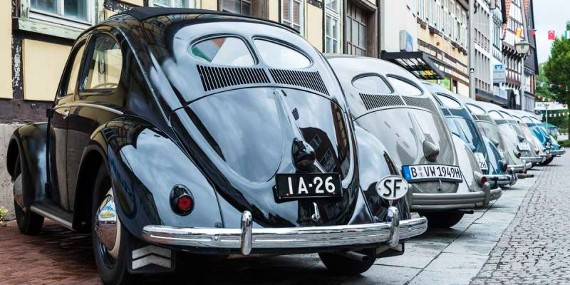 any colour split window VW Beetle you like at Hessisch Oldendorf