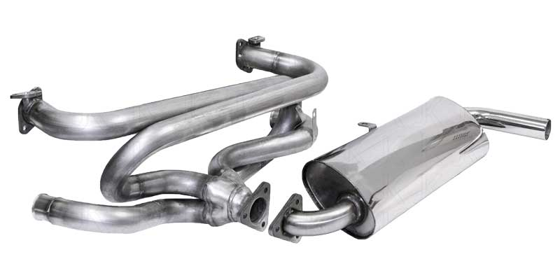 new Stainless Steel Single Quiet Pack exhaust system from Just Kampers