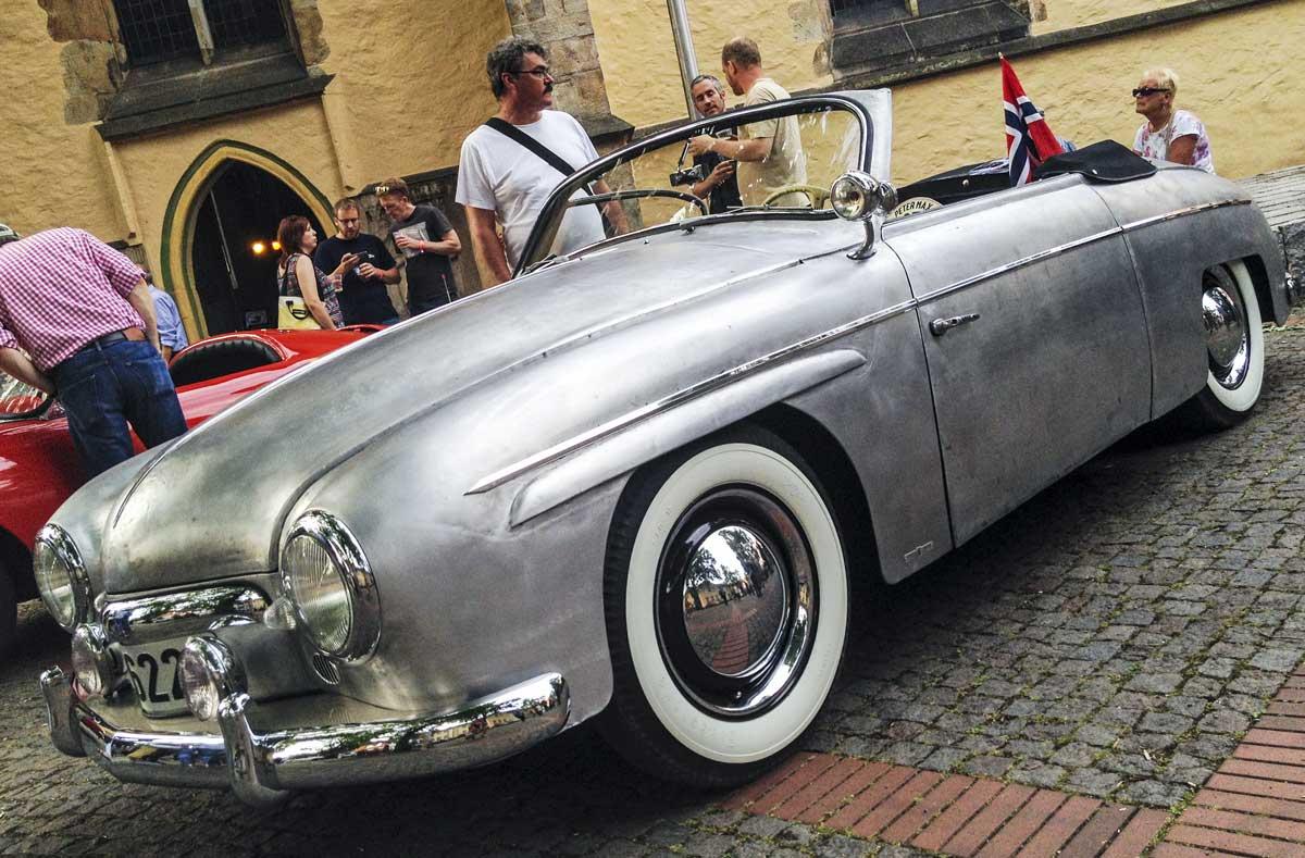 a bare metal Rometsch coach built cabriolet