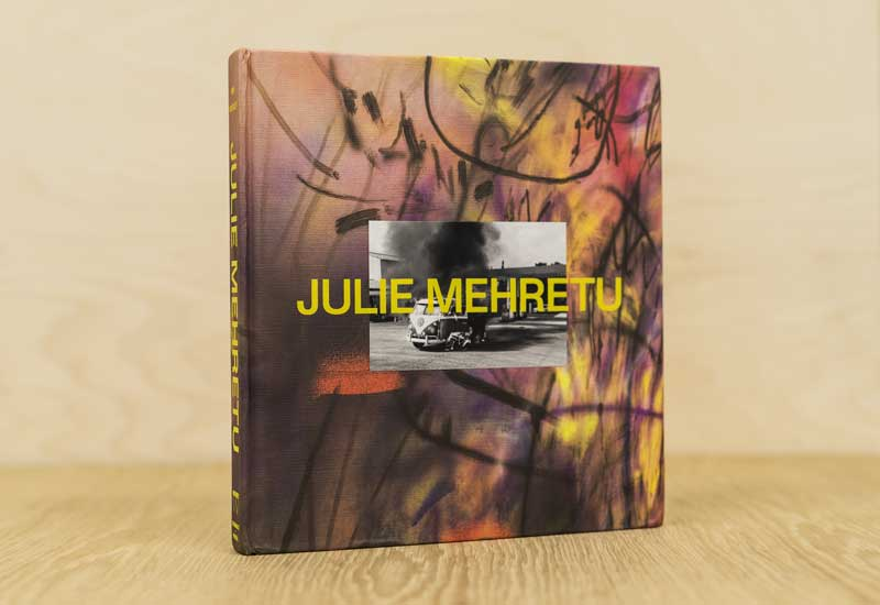my photo features on the cover of Julie Mehretu retrospective exhibition catalogue