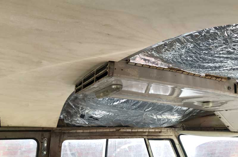notched clearance for the front overhead roof vent