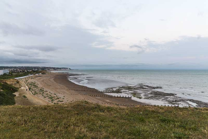view from Bexhill back over to Hastings