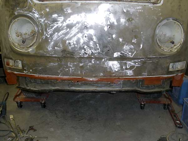 New inner front valence welded in place