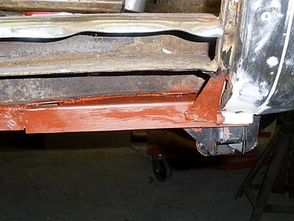 Repair inner sill area under sliding/cargo door
