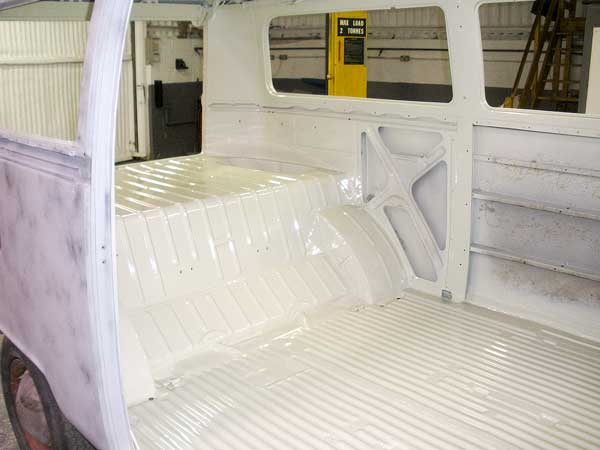Factory fresh looking L87 Pearl White cargo area