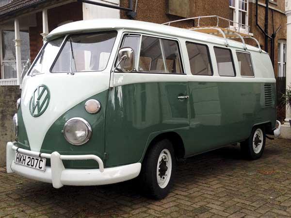 My New 1965 L289 Blue White Over L512 Velvet Green Camper