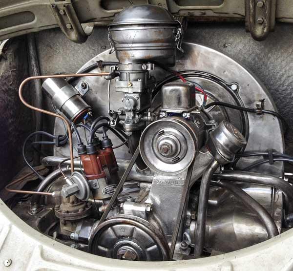 bare metal industrial look engine detail