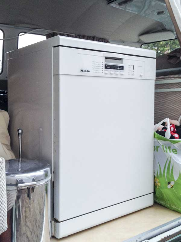 a dishwasher might be a bit too much for a camping trip!?
