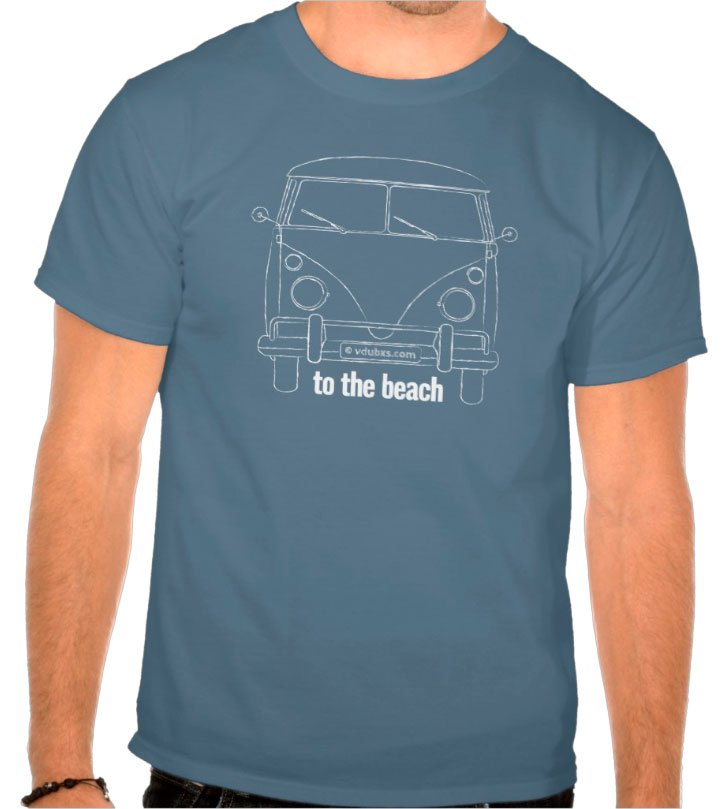 To the beach is where we are heading! A distressed looking line drawing of an iconic 1960's camper that inspired the spirit of adventure and stirred the souls of many generations of travellers ever since