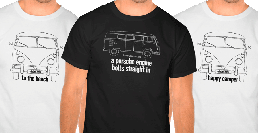 3 new t-shirt designs added to the vdubxs store