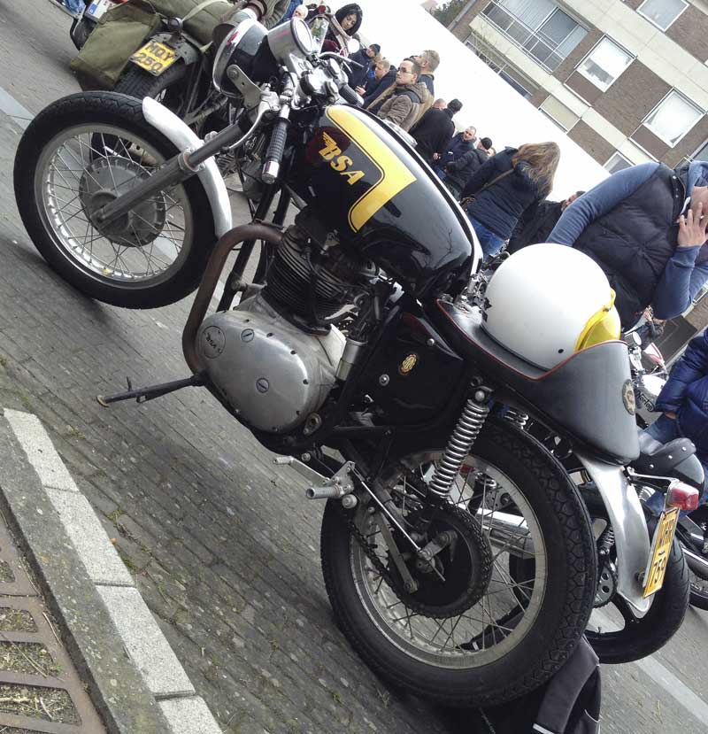 what's not to like about a classic British Norton Café racer