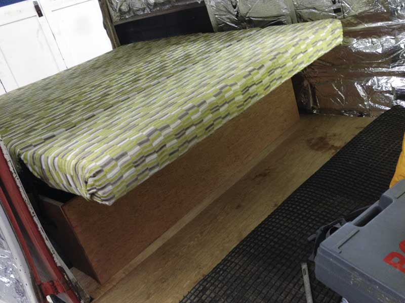 trial fitting the R'n'R Bed… looks good enough to sleep on!