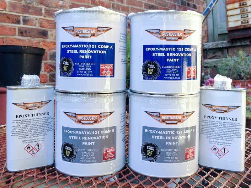 Epoxy Mastic 121 is supplied as a two component mix complete with thinners