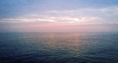 twilight in the middle of the English Channel