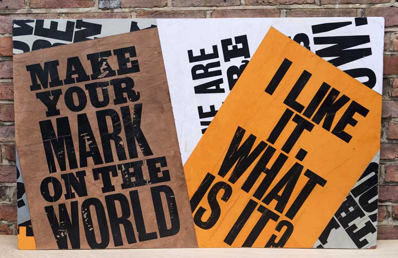 Make your mark on the world | I like it. What is it? long side panel