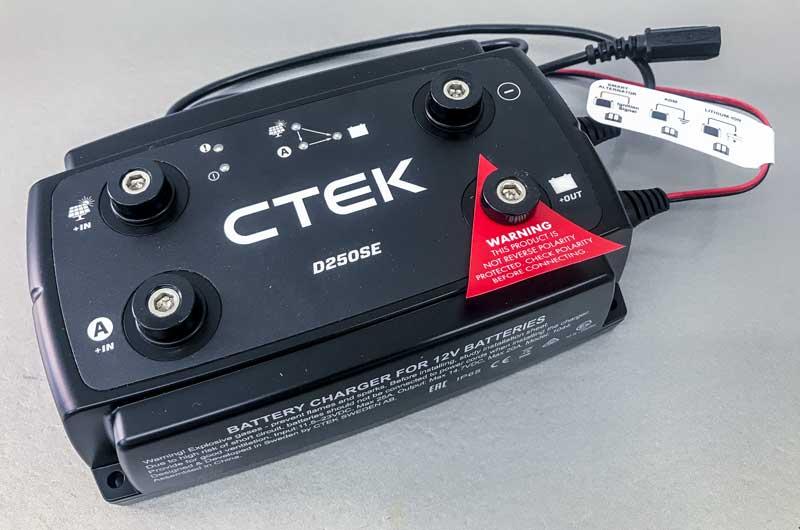 CTEK 250DSE dual Input DC-DC Charger & MPPT Solar Controller