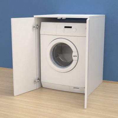 meuble couvercle machine a laver avec portes