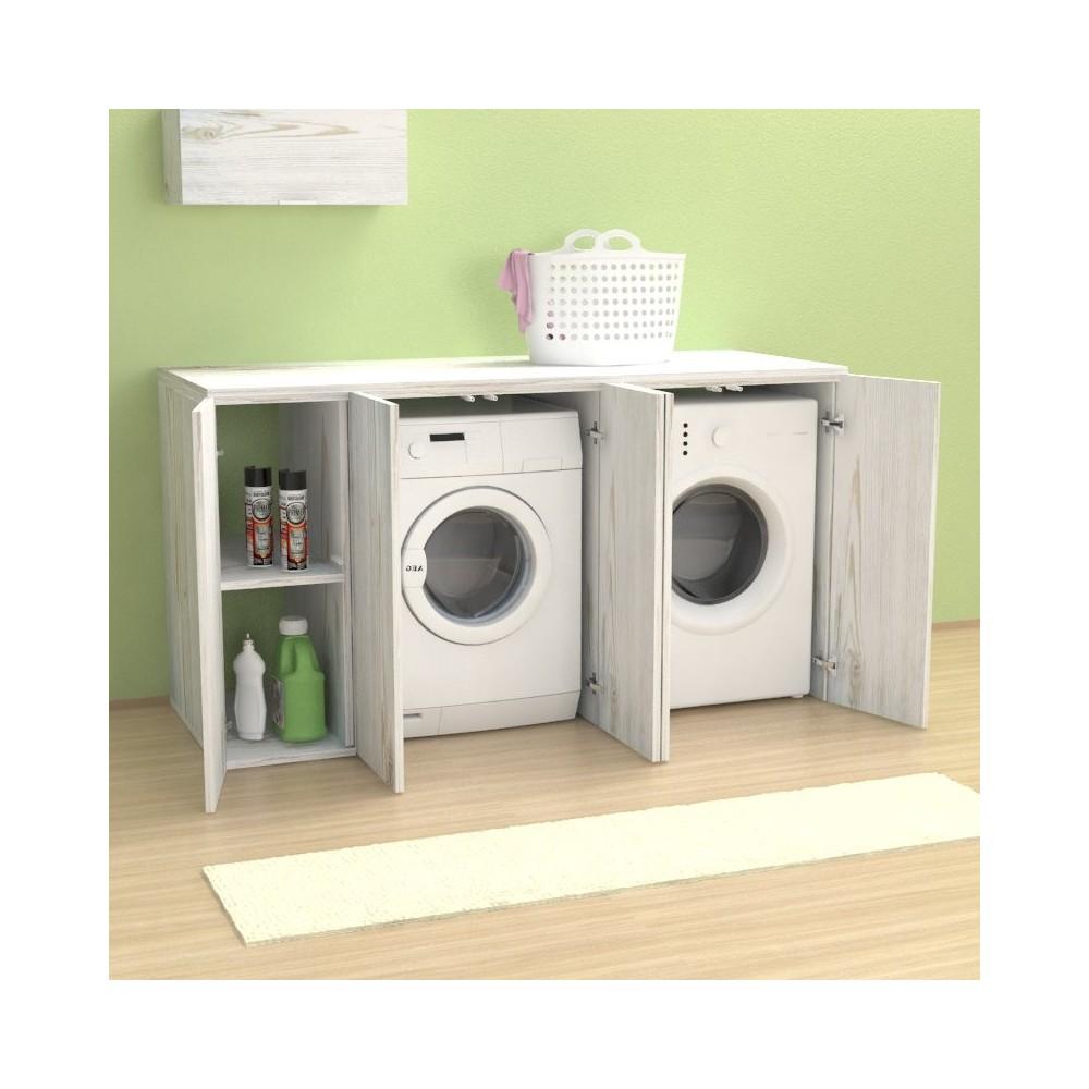 meuble couvercle machine a laver riga 175 cm avec portes